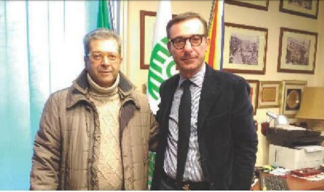 Il presidente degli Ingegneri G.Platania e il direttore Assoesercenti Ct S.Politino