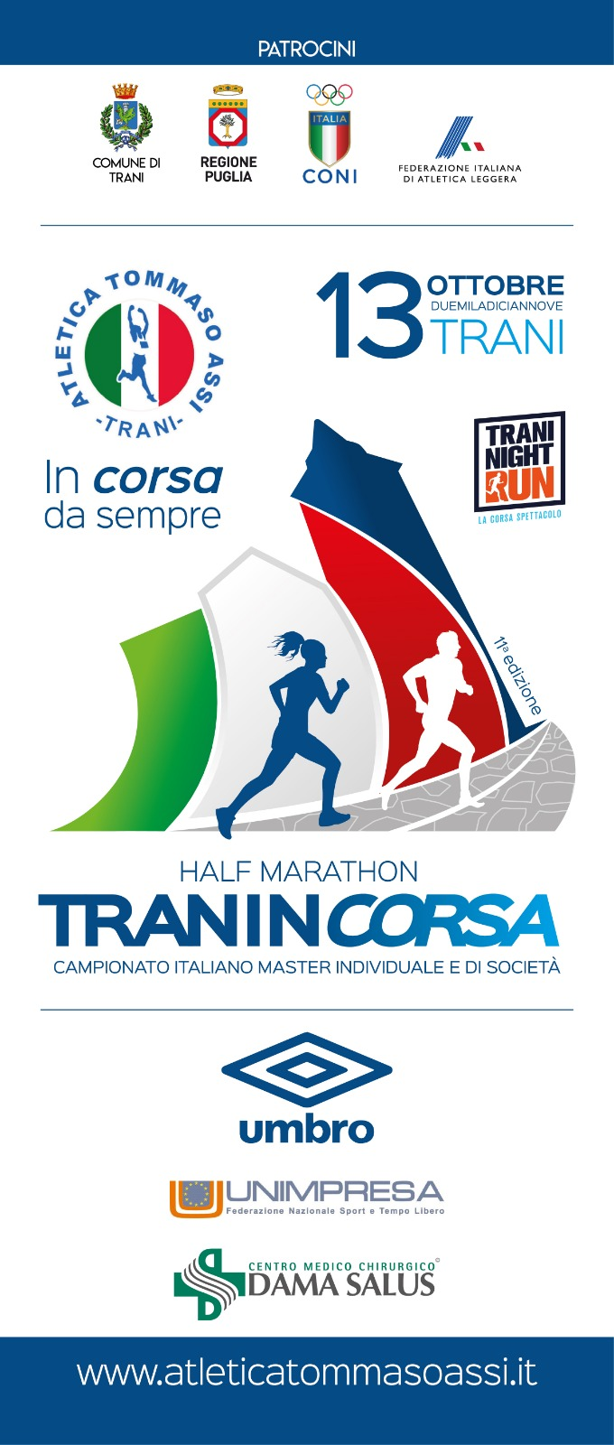 Tranincorsa mezza maratona a Trani