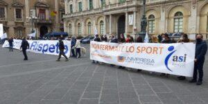 """Assoesercenti – Unimpresa e ASI: Il comparto dello sport scende in piazza per sensibilizzare il Governo contro la mancanza di iniziative in favore del settore. """"Siamo stati dimenticati""""."""